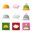 design of headwear and cap symbol vector image vector image