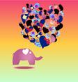 elephant Cartoon elephant in love vector image