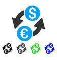 euro dollar exchange flat icon vector image vector image