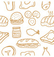 food various of doodle collection stock vector image vector image