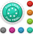 Free trial award vector image vector image