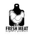 fresh meat icon for butcher shop chicken vector image