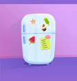 fridge icon with magnets vector image