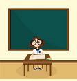 girl learning in classroom vector image
