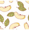 Hand drawn seamless pattern with apple