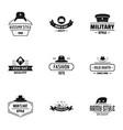 hat fashion logo set simple style vector image