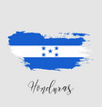 honduras watercolor national country flag icon vector image