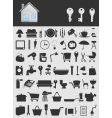house icons2 vector image vector image