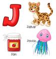 j alphabet vector image vector image