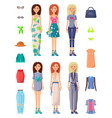 ladies and summer mode set vector image