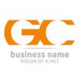 letter g c alphabet element icon vector image