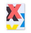 letter x poster vector image