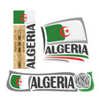 logo for algeria vector image vector image