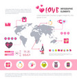 love banner infographic set of template icons over vector image