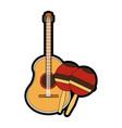 maracas and guitar design vector image