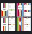 Menu designs vector image vector image