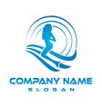 mermaid business logo vector image