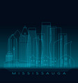 mississauga skyline detailed silhouette modern vector image vector image