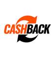 money cash back icon vector image vector image
