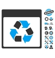 Recycle Calendar Page Icon With Bonus vector image vector image