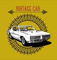 retro poster vintage car vector image vector image