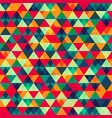 retro triangle seamless pattern 2 vector image vector image