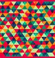retro triangle seamless pattern 2 vector image