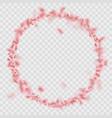 sakura petals circle frame isolated on transparent vector image