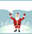 santa claus throw up hands waving vector image vector image