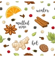 seamless pattern on white with mulled wine vector image vector image