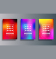 set colorful gradient cover for flyer poster vector image vector image