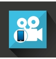 smartphone movie social network media icon vector image vector image