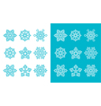 Snowflakes winter blue decoration icons set vector image vector image
