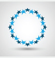 stars in circle shape vector image vector image