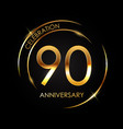 template 90 years anniversary vector image