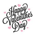 valentines day vintage logo on white background vector image vector image