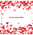 valentines greeting card cover with hearts by my vector image vector image