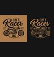 vintage motorcycle monochrome emblem vector image