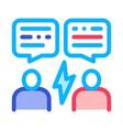 voting debate icon outline vector image