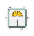 weight machine icon design vector image