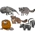 wild animals set cartoon vector image vector image