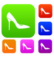 women shoe with high heels set collection vector image vector image