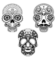 Zentangle stylized patterned Skulls set for vector image vector image