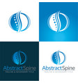 abstract spine icon and logo vector image