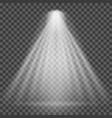 light beam on transparent background bright vector image