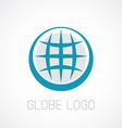 Globe logo template Earth planet sign vector image