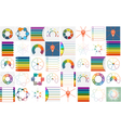 40 templates Infographics cyclic processes vector image