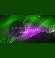 abstract shiny glowinng color wave design element vector image vector image
