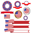 Banners and ribbons American vector image vector image