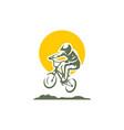 bicycle sport logo icon vector image vector image